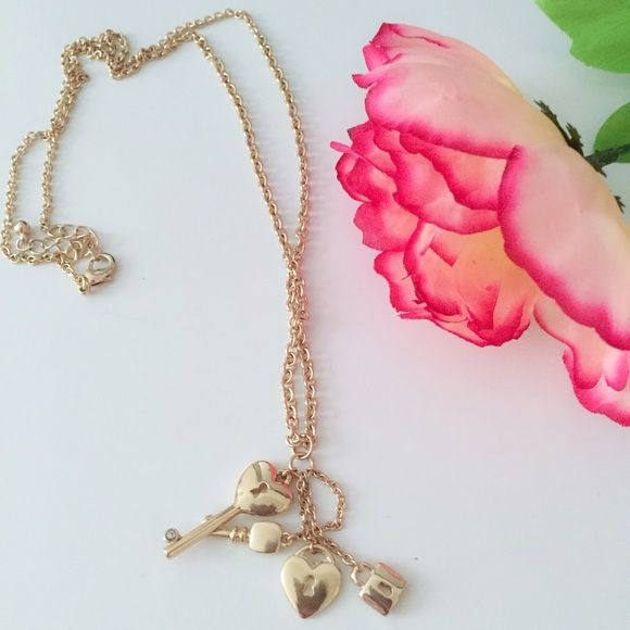Key locket long necklace Long necklace Jewelry Necklaces