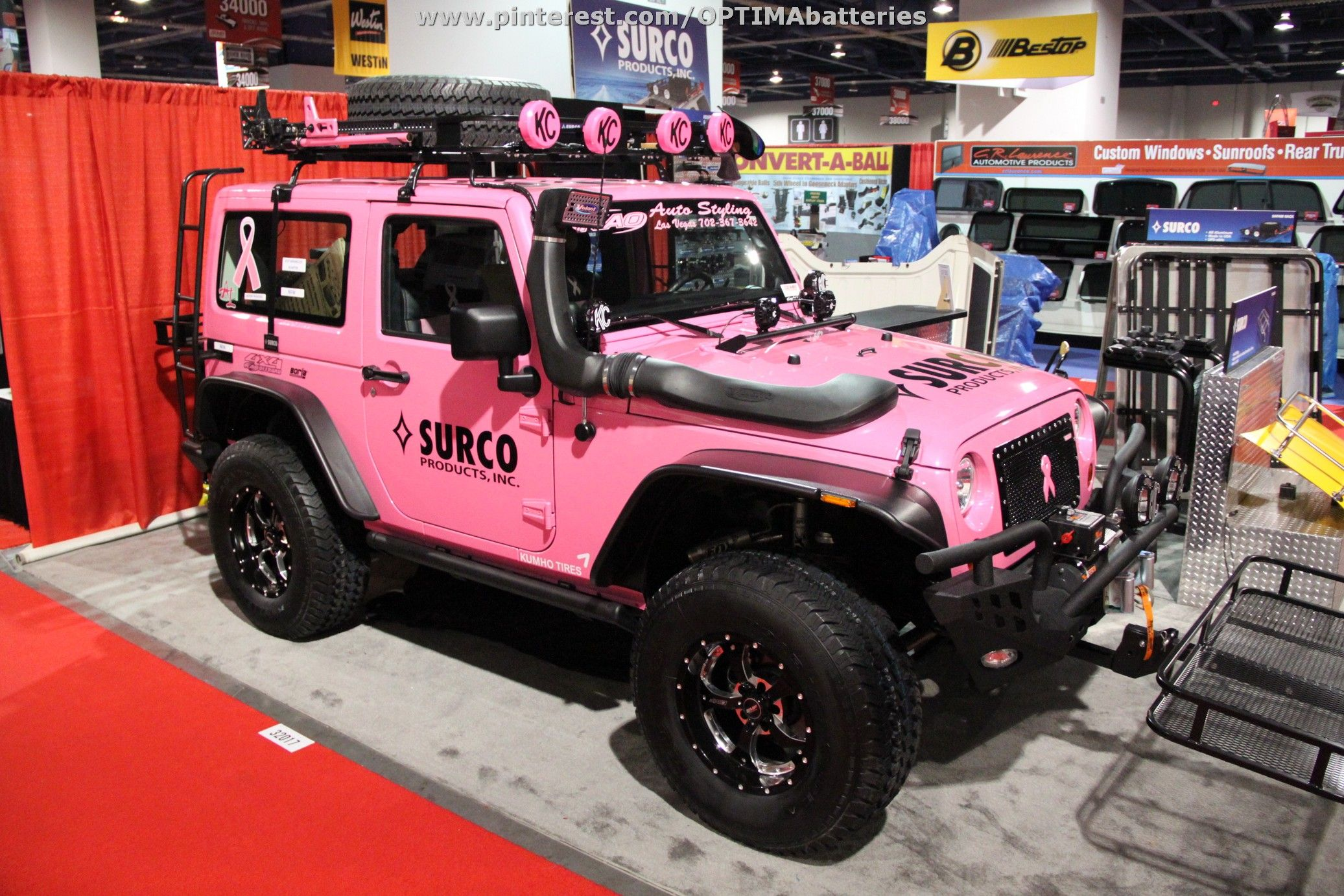 Pink jeep from sema 2012 sold at barrett jackson scottsdale for 66 000
