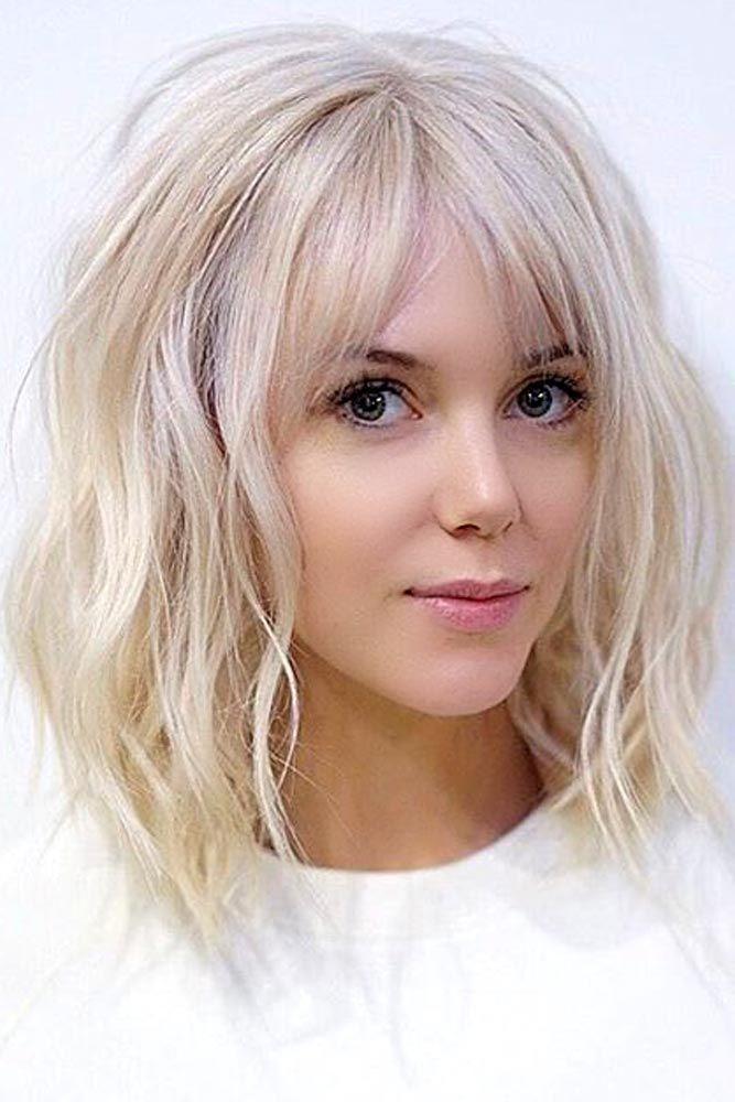 36 Shining Looks For Medium Hair With Bangs Hair Styles Medium Hair Styles Short Hair Styles