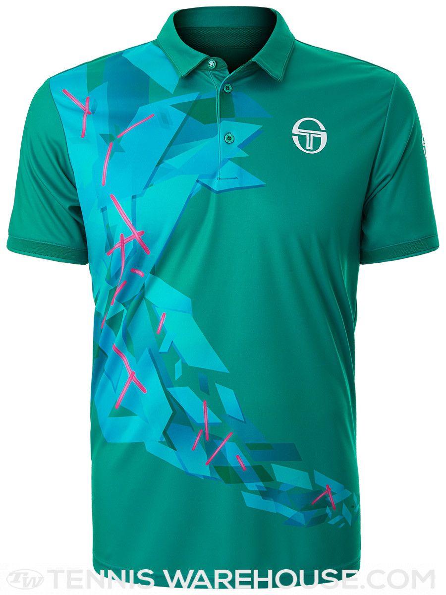 Sergio Tacchini Men's Spring Prisma Polo   Mens tops, Tennis