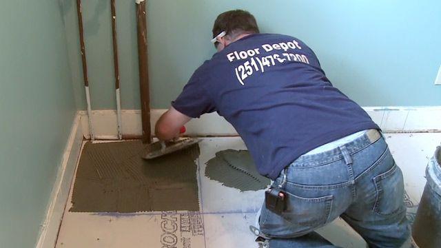 Tiling Over Concrete And Wood Floors Laying Tile Floor Ceramic Wood Floors Porcelain Wood Tile