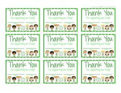 Girl Scouts Free Printable Thank You Cards Girl Scouts Girl