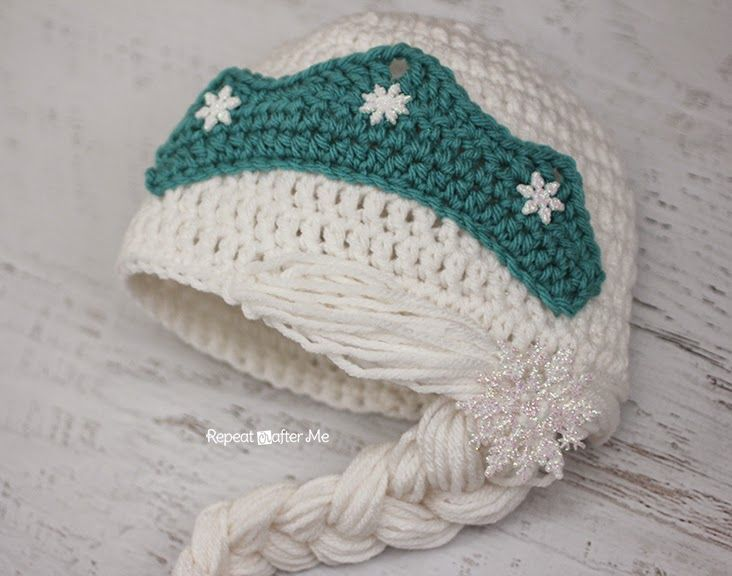 Crochet Snow Queen Hat Pattern #queenshats