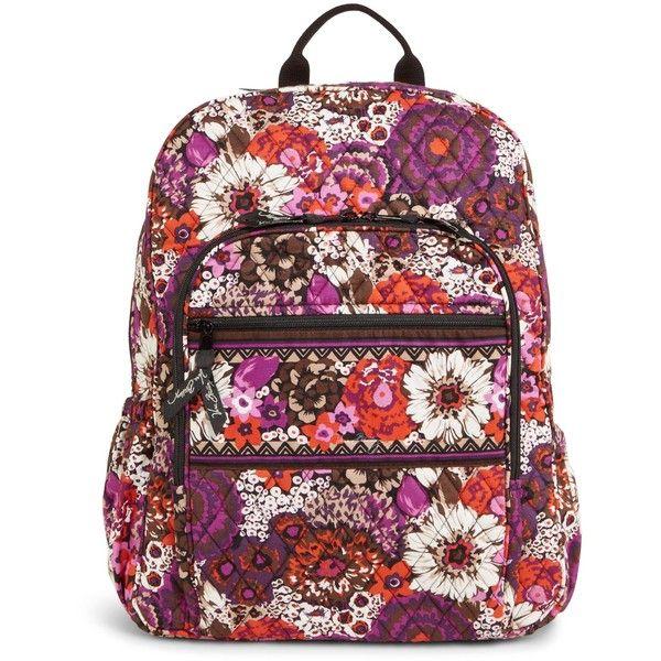 Vera Bradley Campus Backpack in Rosewood ( 109) ❤ liked on Polyvore  featuring bags, backpacks, rosewood, strap backpack, zip bags, rucksack bag,  strap bag ... 461ba7d43f