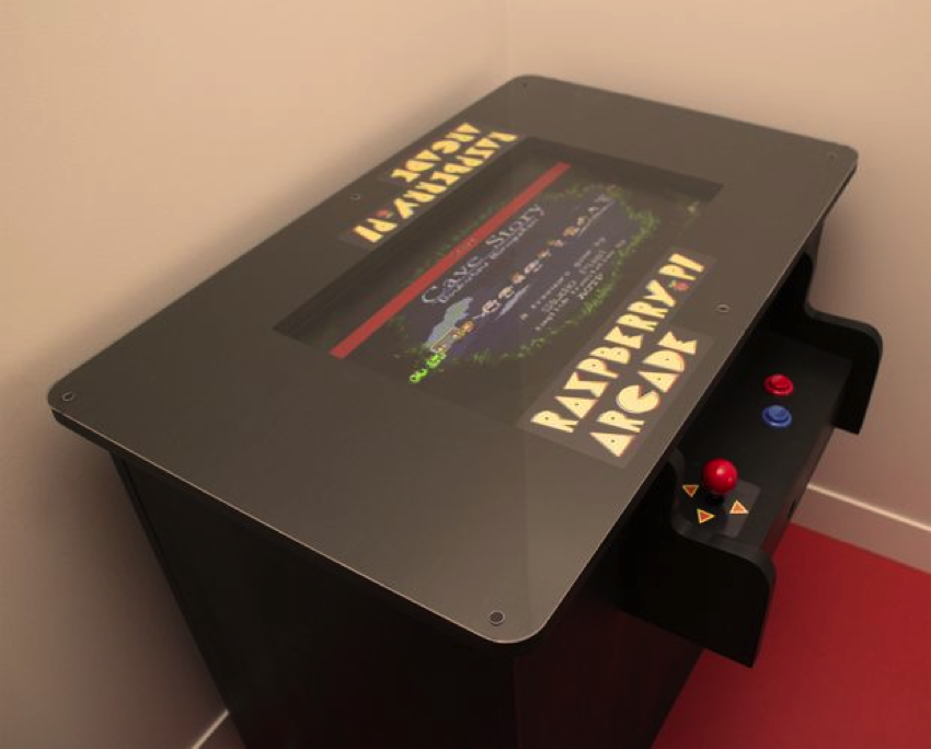 Diy Raspberry Pi Arcade Table Piday Raspberrypi Raspberrypi