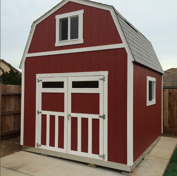 Transom Windows Make All The Difference With Double Doors Shed Shed Storage Tuff Shed