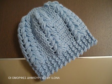 5da4f28a3e1 ΠΛΕΚΤΟ ΣΚΟΥΦΑΚΙ ΜΕ ΒΕΛΟΝΑΚΙ. | Πριγκίπισσες | Crochet baby, Crochet ...