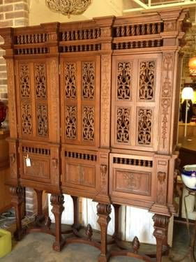 Hand Carved Exotic Wood Cabinet. $3250 Made In Oak Cliff By Furniture Maker  Don Stone