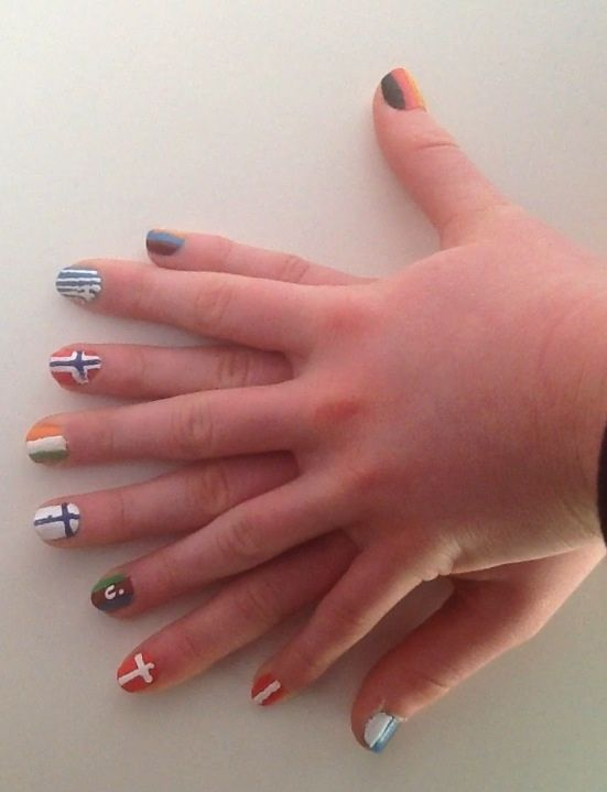 Eurovision Song Contest nail art My personal favourite songs from this years competition