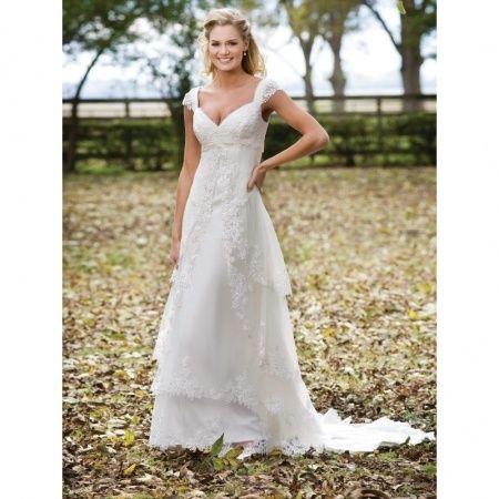 fall outdoor wedding dress | My best friends wedding! | Pinterest ...
