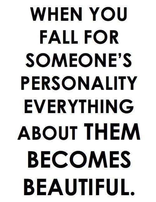 Loving someone's personality