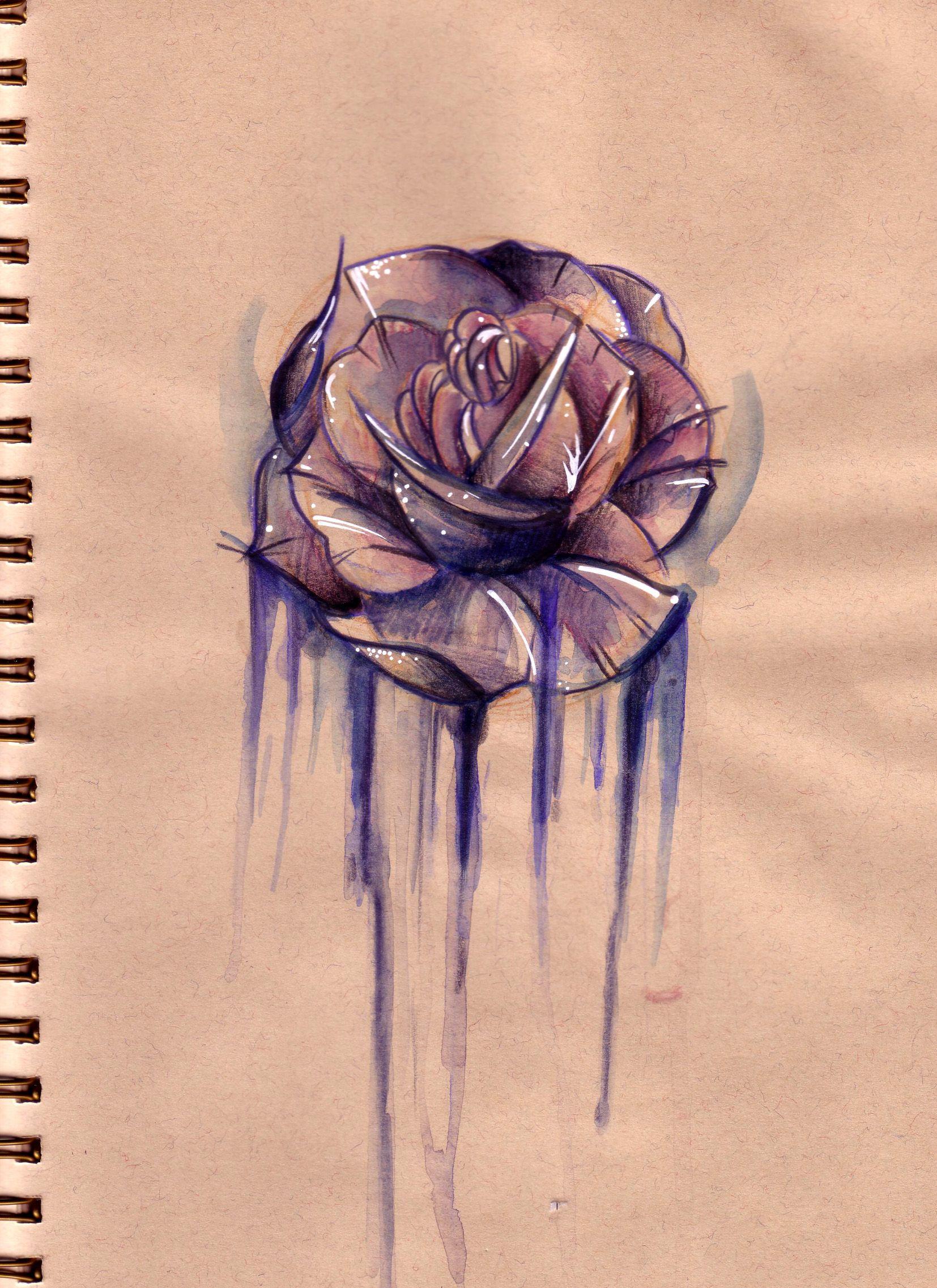 Rose sketch charlotte ross tattoo tattoo pinterest rose