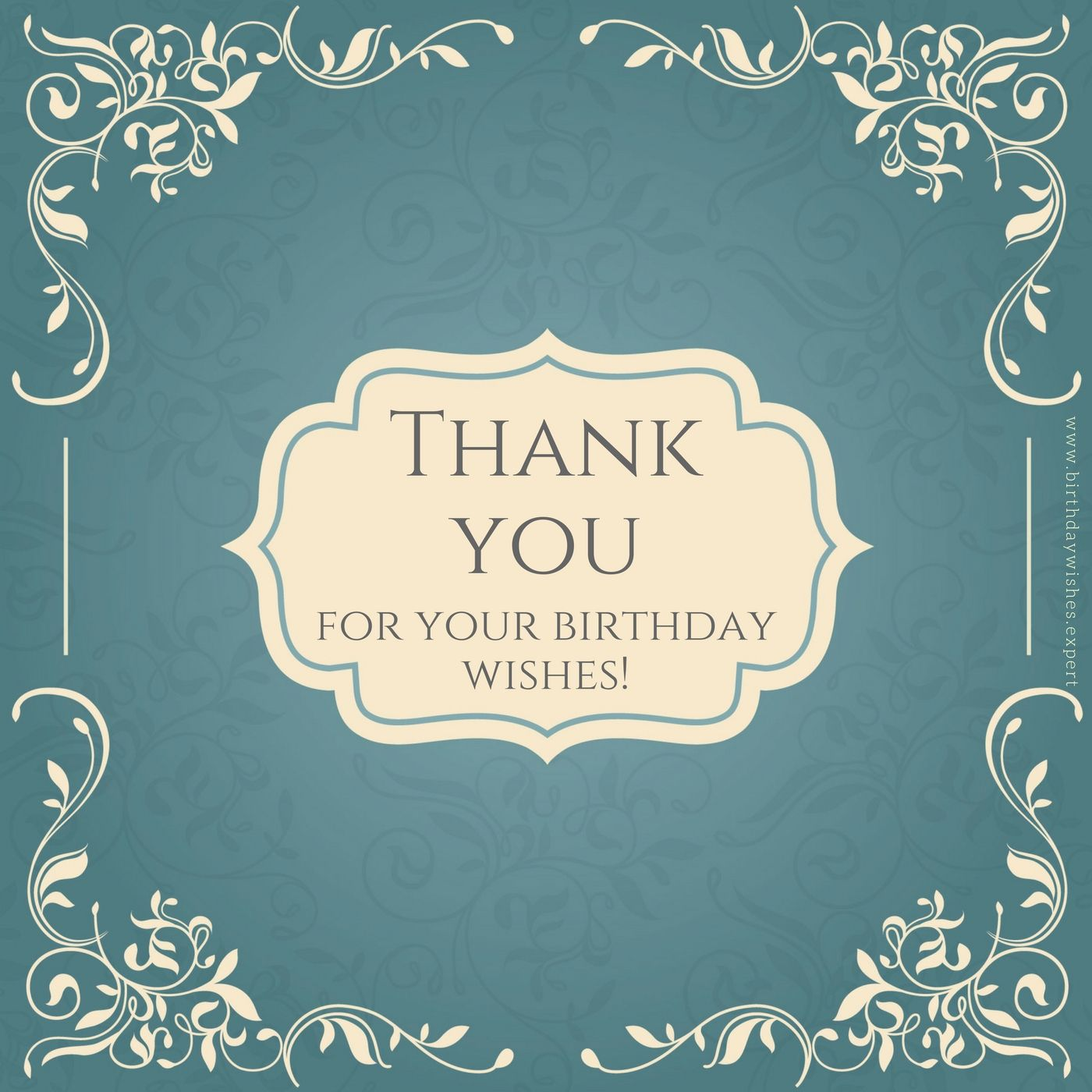 Thank you Notes for your Birthday Presents Wishes & Presence