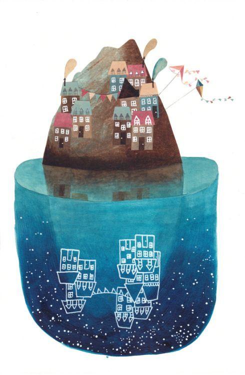 En otra vida debo haber sido un oso a algún animal que hiberna, seguro.   Porque veo estas ilustraciones de Gemma Capdevila  (España) y me...