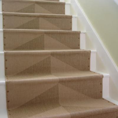 Nailhead Stair Runner Stairway Diy Stairs Stair Runner Carpet | Decorative Carpet For Stairs | Rectangular Cord Treads | Gingham | Brown | Animal Print | Stair Runner Matching Landing