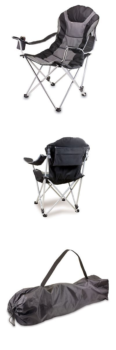 camping furniture 16038 picnic time portable reclining camp chair