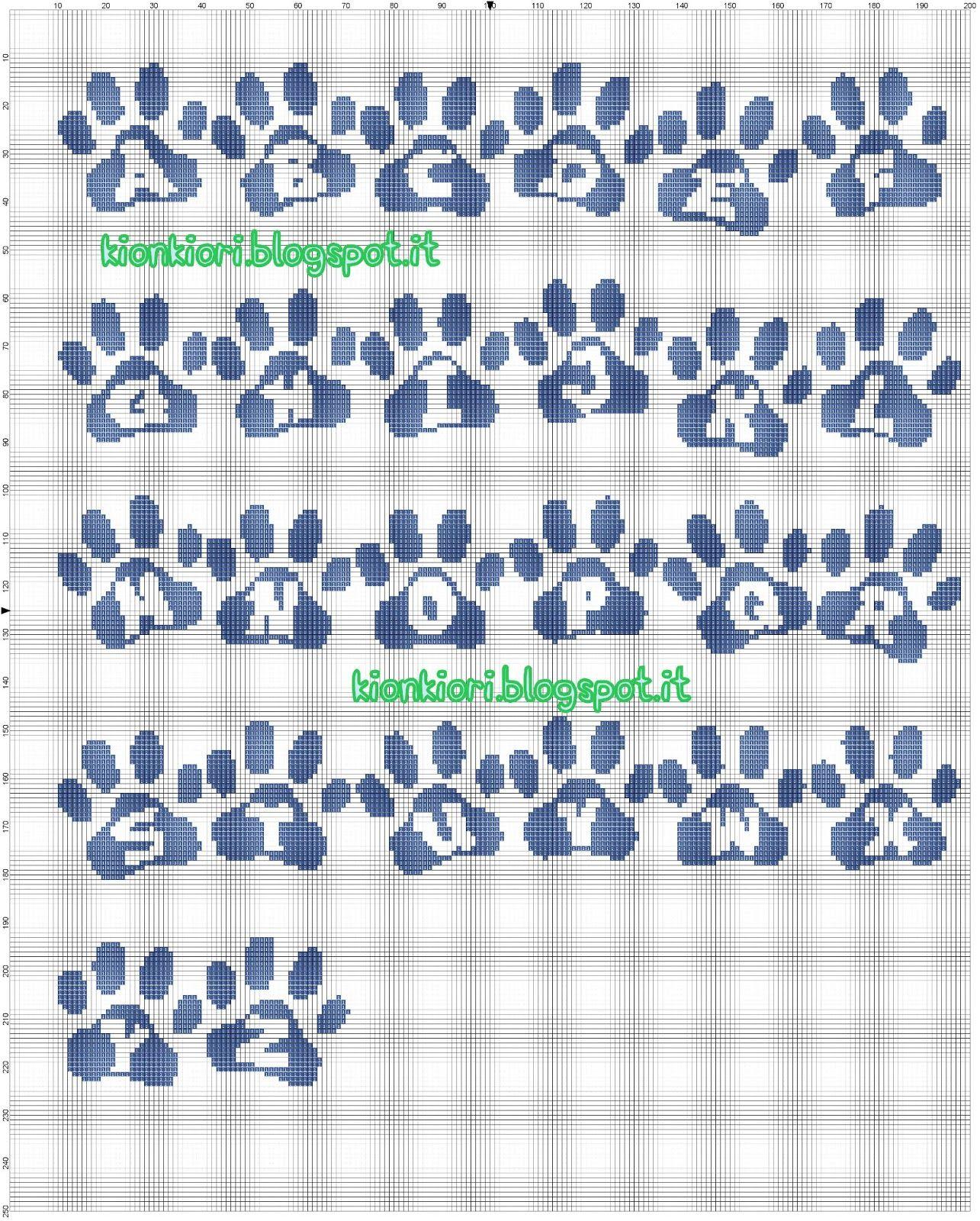 Alfabeto zampa baby punto croce punto croce pinterest for Alfabeto disney a punto croce