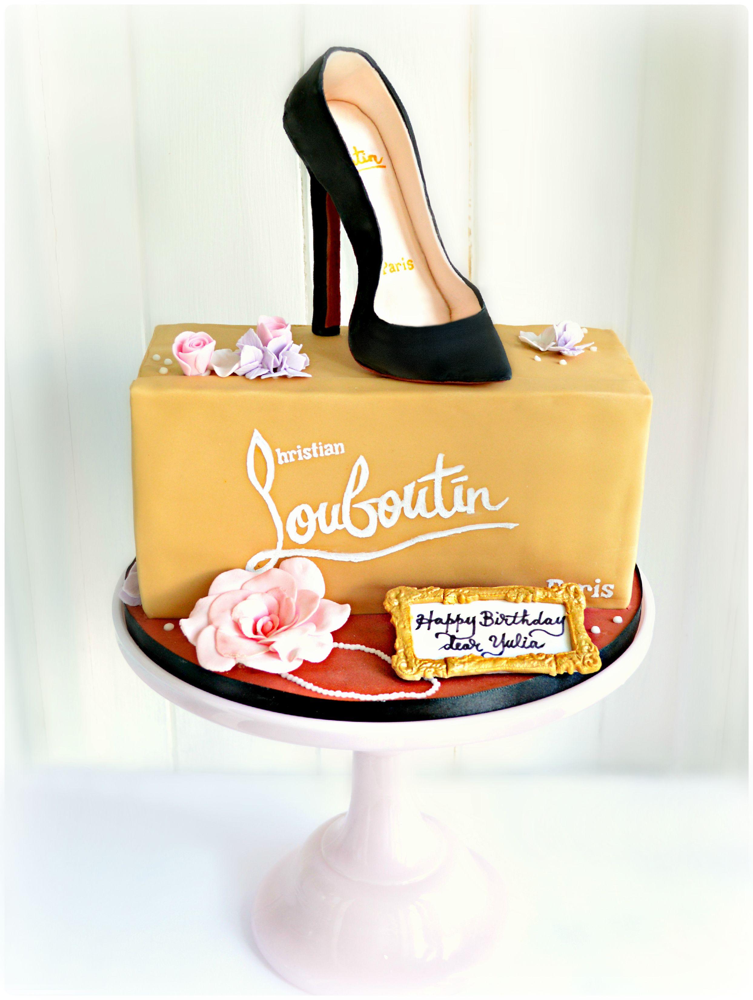 Gluten Free Dairy Free Christian Louboutin Black High Heel Shoe Box