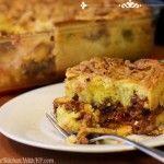 Impossible Cheeseburger Pie #SundaySupper #BakeForACure #impossiblecheeseburgerpie