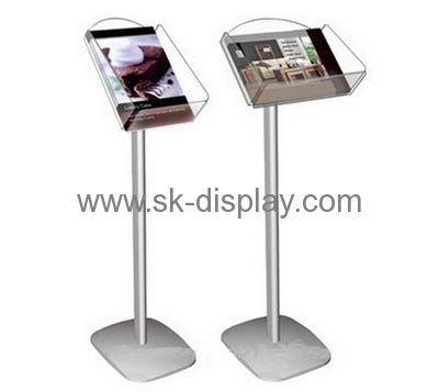 Factory custom brochure holder floor stand acrylic floor