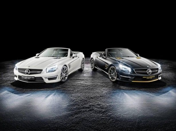 Cars - Mercedes-Benz SL 63 AMG : une série très limitée pour fêter la suprématie en F1 ! - http://lesvoitures.fr/mercedes-benz-sl-63-amg-world-championship-2014-collectors-edition/