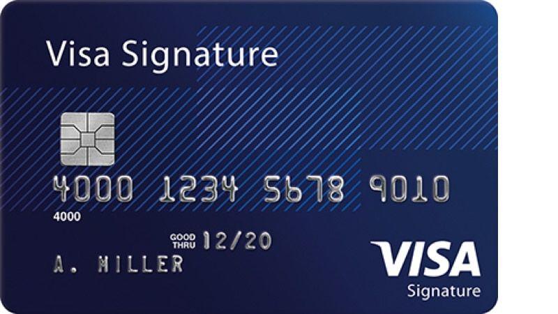 signature credit card  credit card benefits visa gift