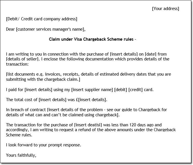 Sample Chargeback Letter chargeback letter Pinterest Easy - new sample letter to refund tickets