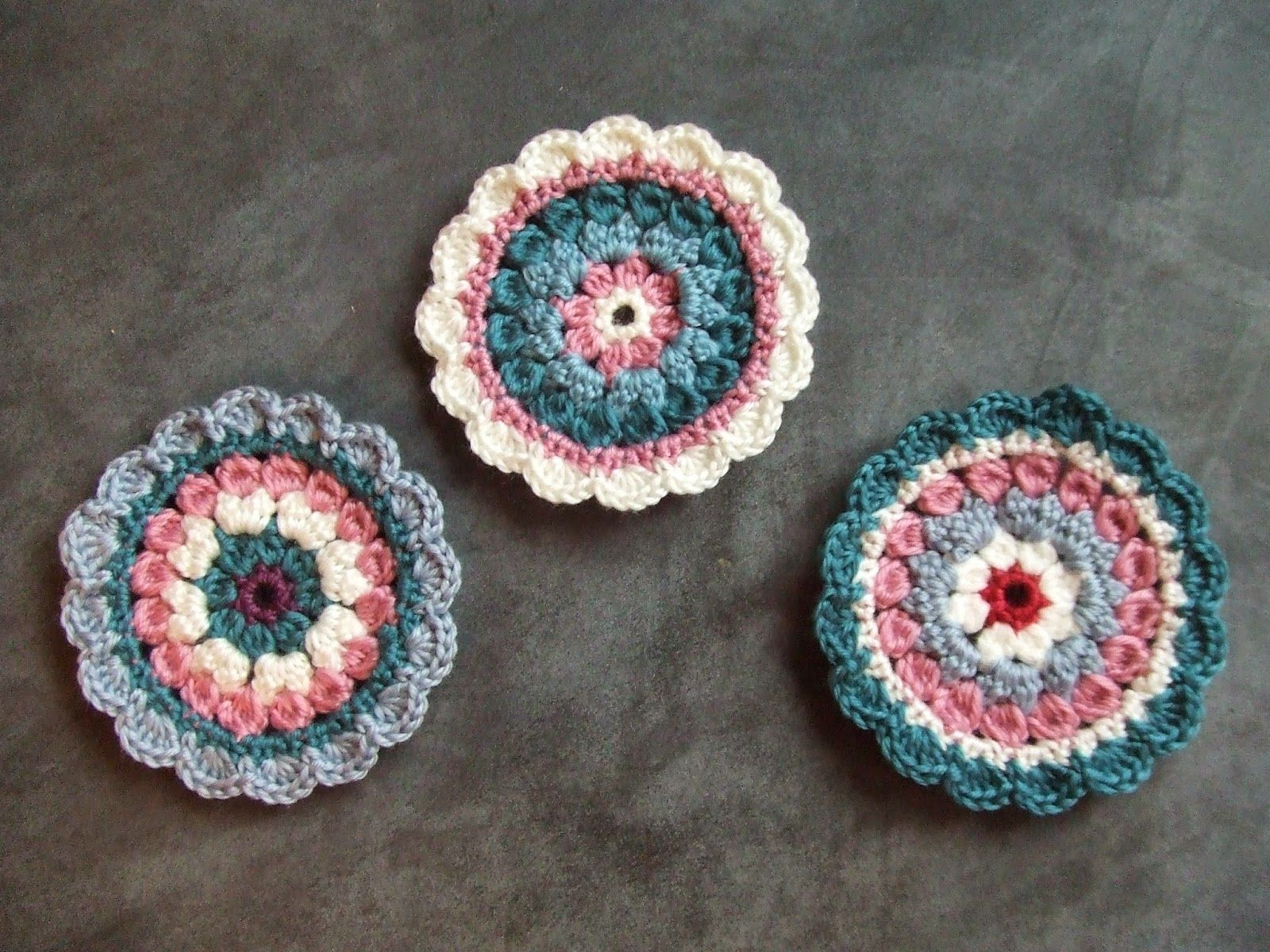 My world of crochet: More Mini Mandalas - FREE Patterns! | Häkeln ...