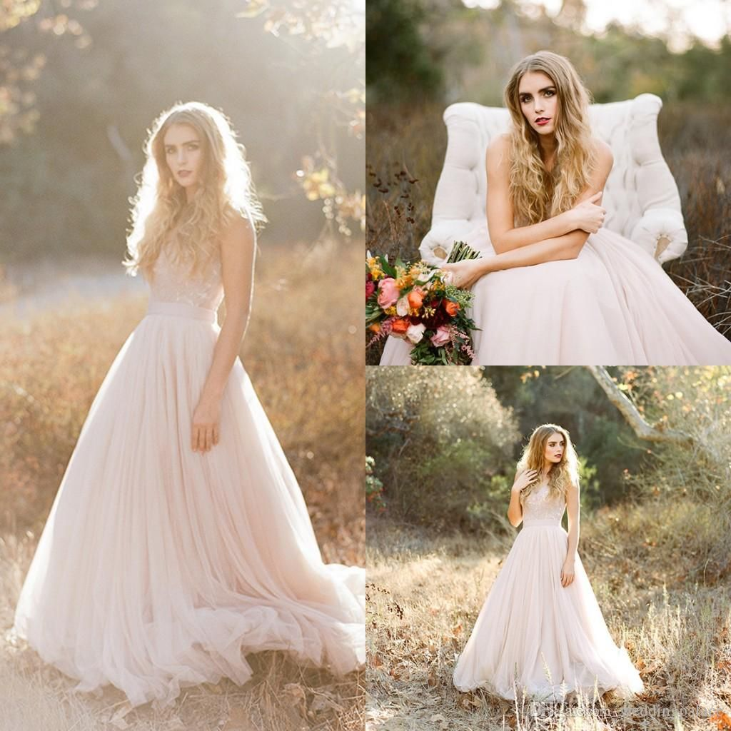 Simple wedding dresses cheap   Latest Style Sweetheart Neck Sequin Lace Aline Simple Tulle