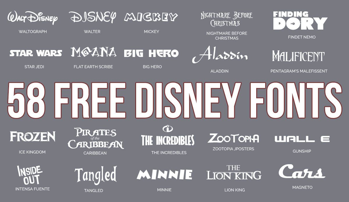 Download 58 Free Disney Fonts   Disney font, Disney font free ...