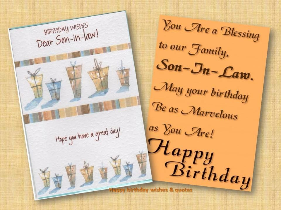 Happy birthday wishes for son in law birthday wishes for