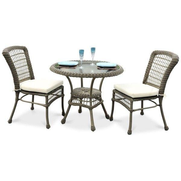 Carolina Beach 3-Pc Bistro Set (Table  2 Chairs) ($1,999) ❤ liked