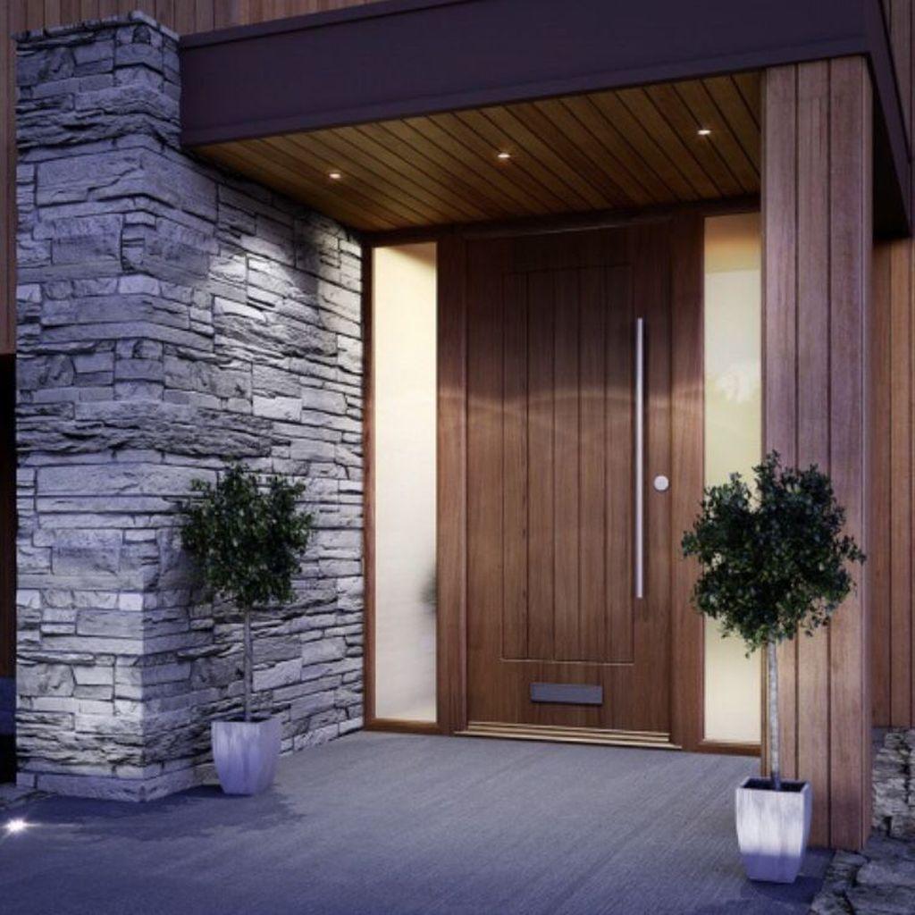 32 The Best Modern Front Entrance Exterior Design Ideas Wooden