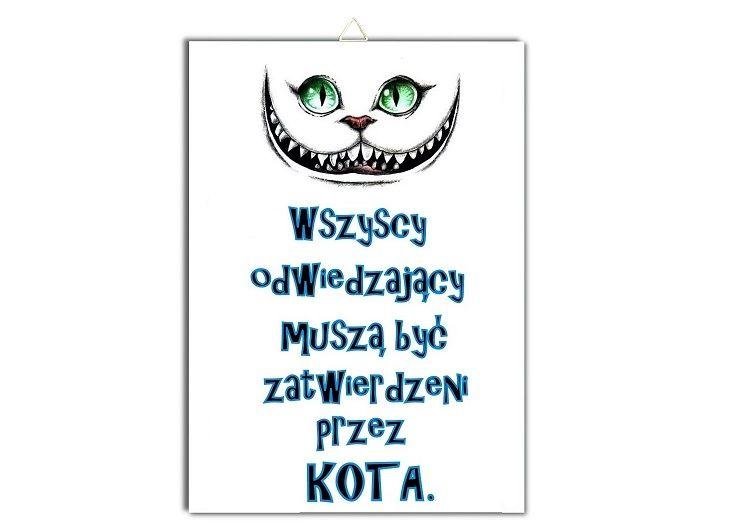 Plakat Kot Wszyscy Odwiedzajacy Musza Byc Plakat Kot I Smieszne