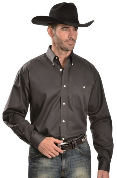 8f2f8db9aea26 Wrangler 20X Solid Charcoal Grey Button Shirt - Sheplers