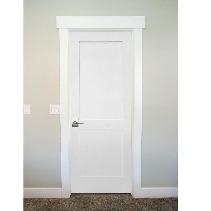 Paneled Solid Manufactured Wood Primed Shaker Standard Door In 2021 Interior Door Styles Shaker Interior Doors Door Design Interior