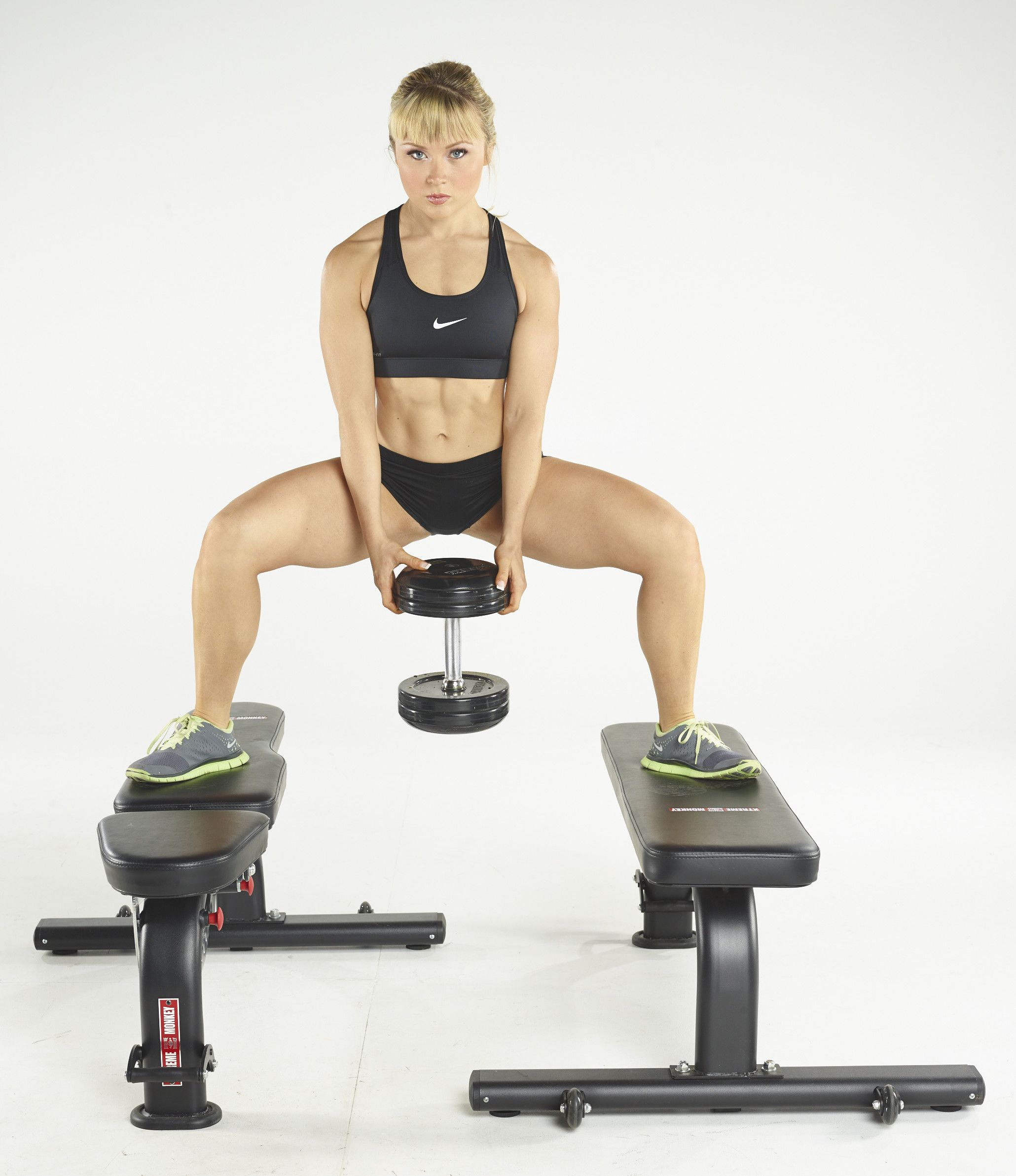 Image result for dumbbell raised squat
