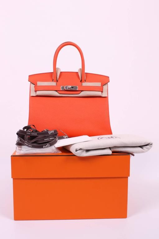 c0c288630231 30cm Poppy Clemence Leather Hermes Birkin from 2016. Sensibly priced at  7