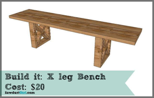 20 X Leg Bench Woodworking Plans Sawdust Girl Woodworking Bench Plans Church Interior Design Bench
