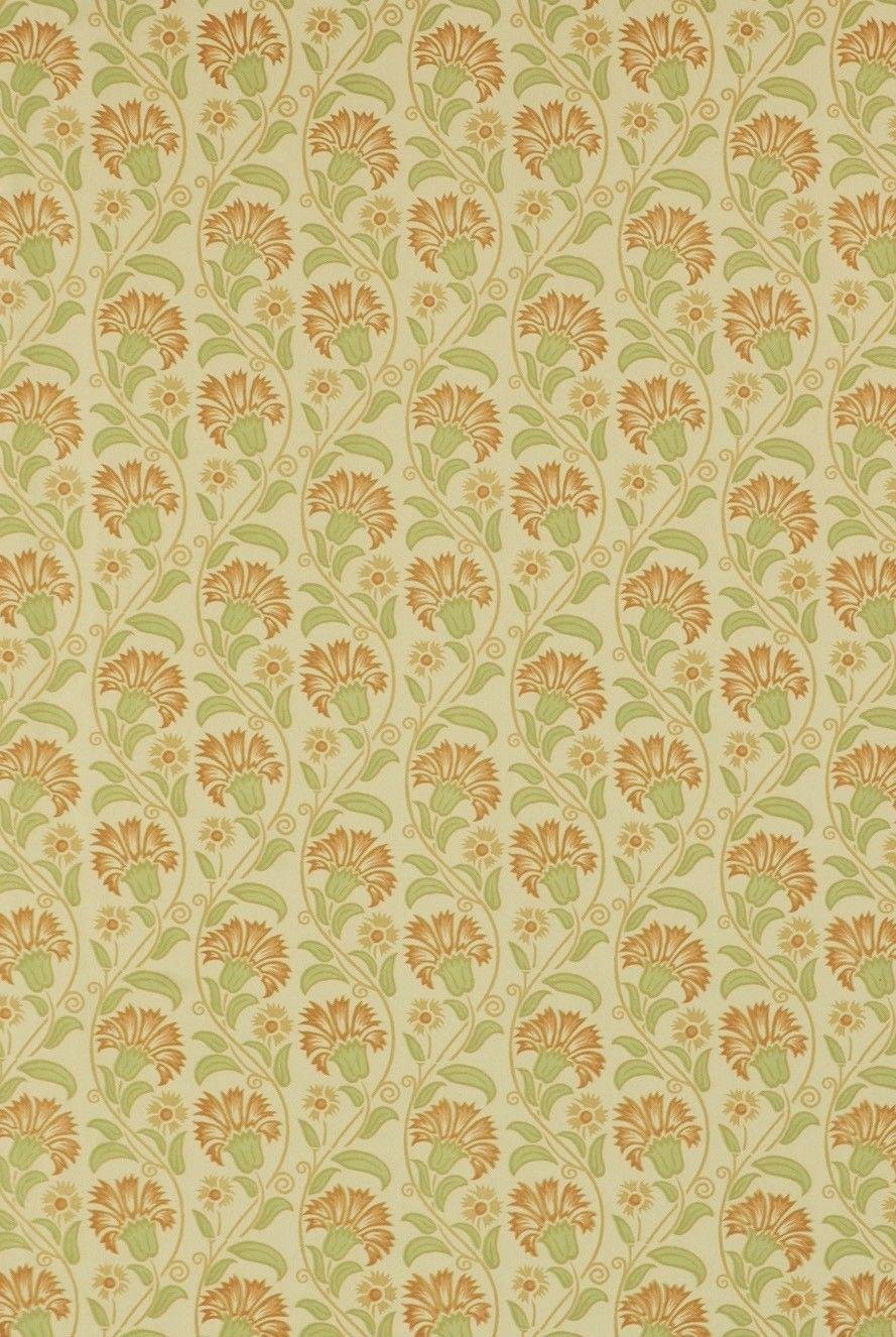 Italian Block Print Rust & Sage Floral | Decorative Paper ...