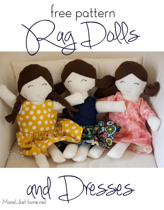 Tutorial for a super easy and super versatile rag doll dress pattern ...