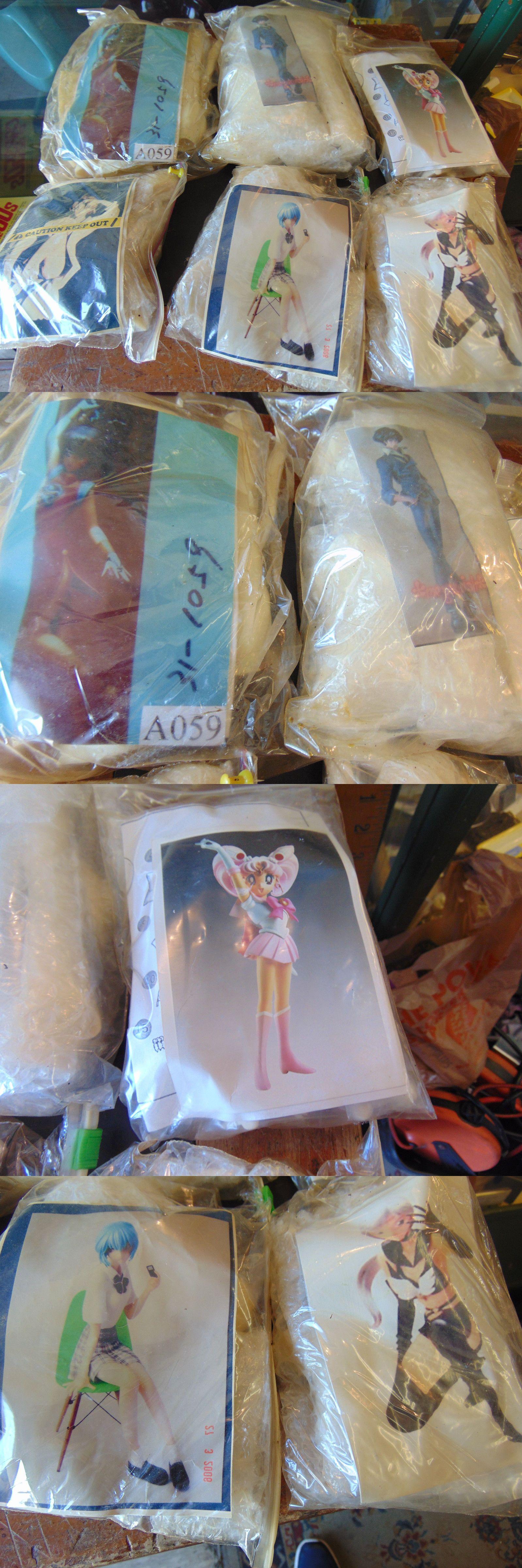6unbilt unpainted anime figure model resin kits