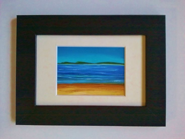 ARTFINDER: I Love Isle of Skye #3  Miniature ACEO by Ria Janta-Cooper - Isle of Skye is the place where I want to be. Always.     Painted on illustration board using acrylics. The painting is varnished, mounted, framed, and it co...