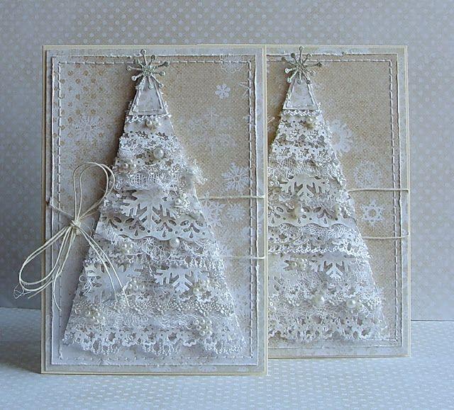 елки для открыток скрапбукинг