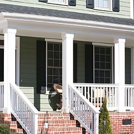 Vinyl Column Wrap Wrap N Snap For Easy Columns Porch Columns Front Porch Columns Porch Roof Design