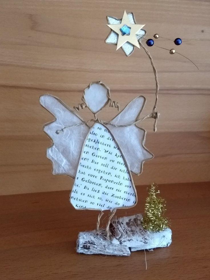 Angel With Star Pictocharm Angel Pictocharm Star Basteln Mit Papierdraht Weihnachtsengel Basteln Engel Basteln