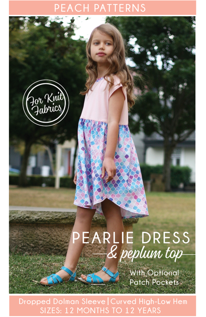 9726d7a4c36 The Pearlie Dress   Peplum Top in Sizes 12 months to 12 years is a sewing  pattern for a girls  everyday t-shirt dress   top designed exclusively for  knit ...