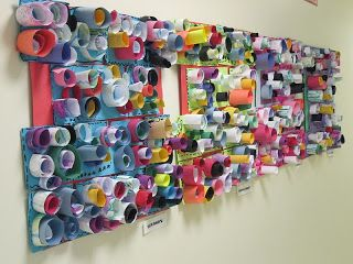 Color collage and much more cylinders are up kinder kunstunterricht kunst und kunst - Schulprojekte ideen ...
