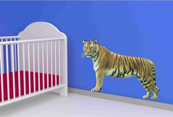 Tiger Vinyl Wall Decal Sticker by Popitay on Etsy, $35.00