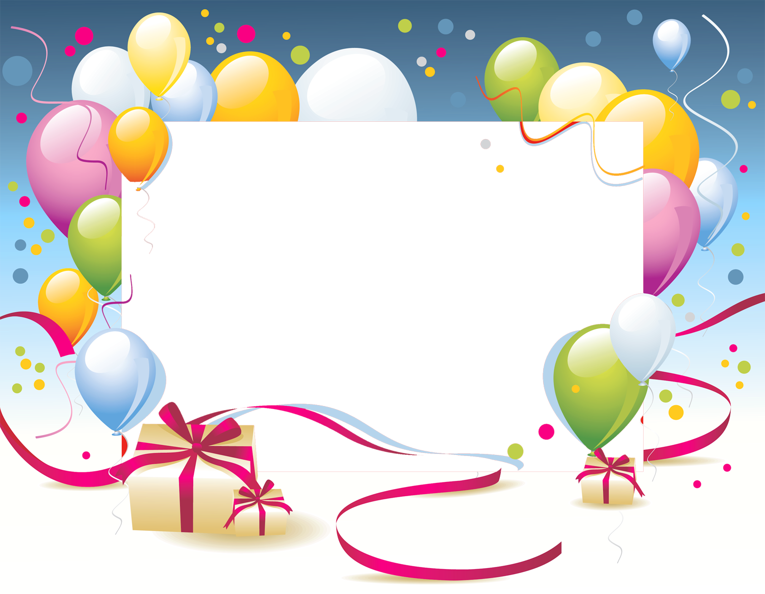 Happy Birthday Frame Png Birthday Transp...